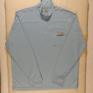 Columbia Men's Blue PFG Pullover with Zip Size L